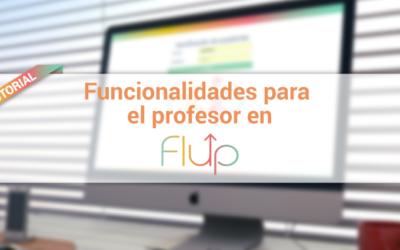Funcionalidades para el profesor en Flup