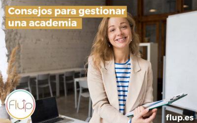 Consejos para gestionar una academia
